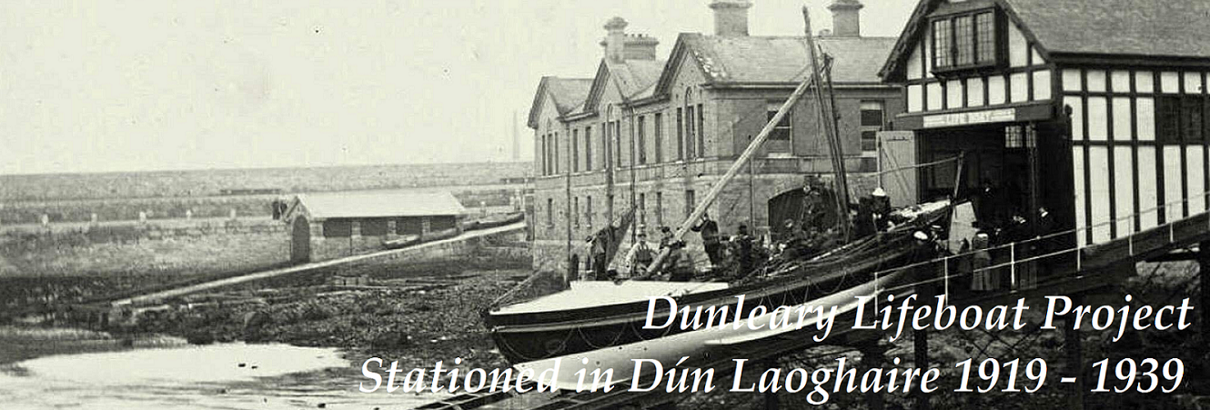 Dunleary Lifeboat launching of the old slipway in the DL Harbour